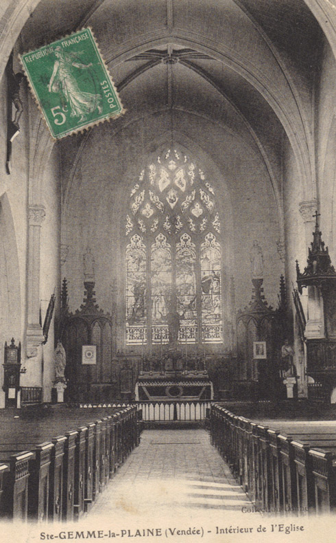 carte-ancienne-vu-eglise-interieur-ste-gemme-vendee